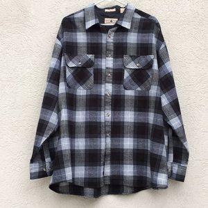 Northwest Territory Mens xxl plaid shirt gray